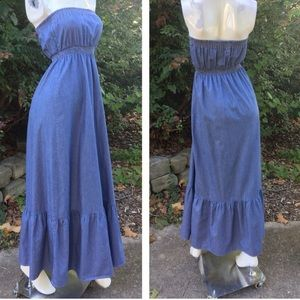 Quiksilver Women's Striped Chambray Maxi Dress